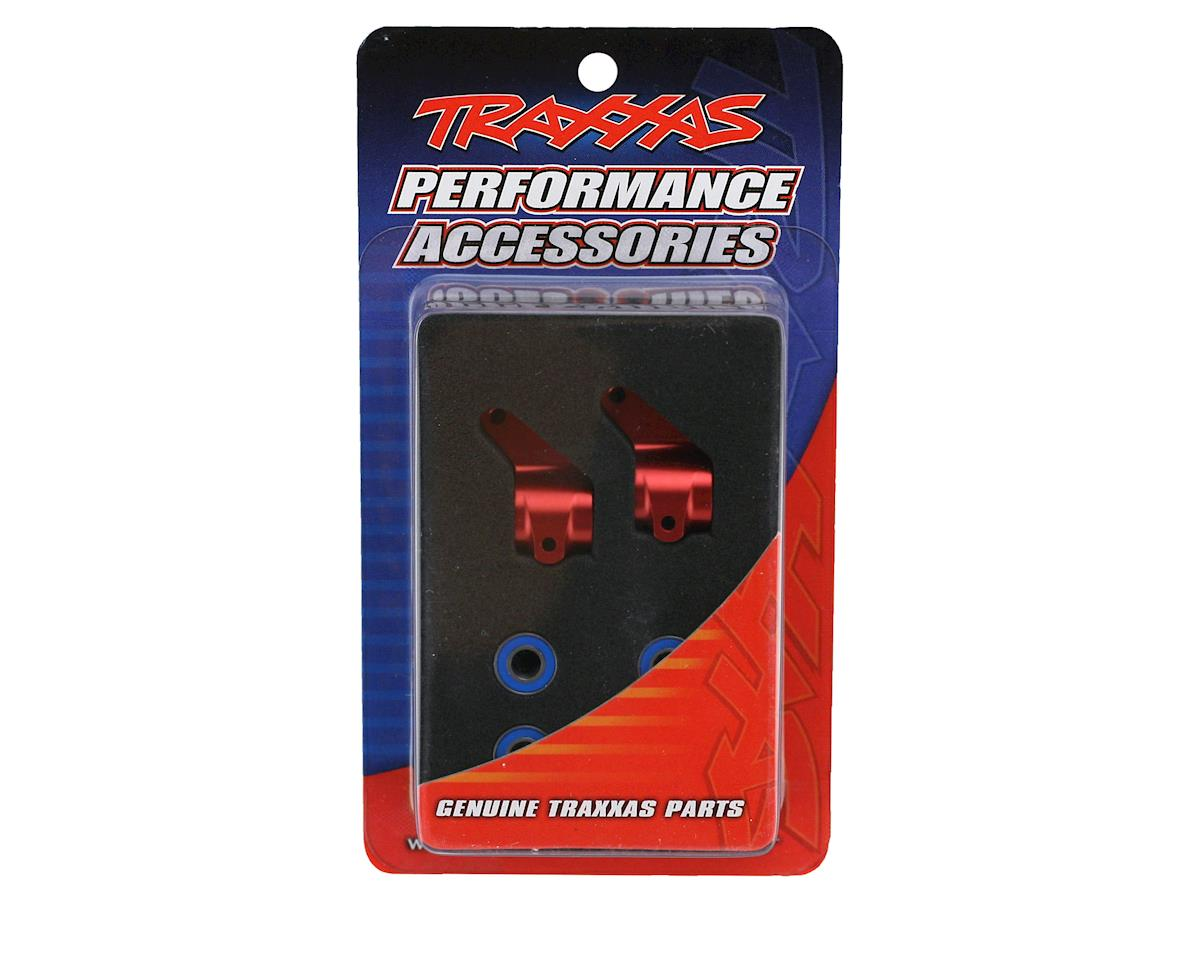 Traxxas Aluminum Steering Blocks w/Ball Bearings (Red) (2)