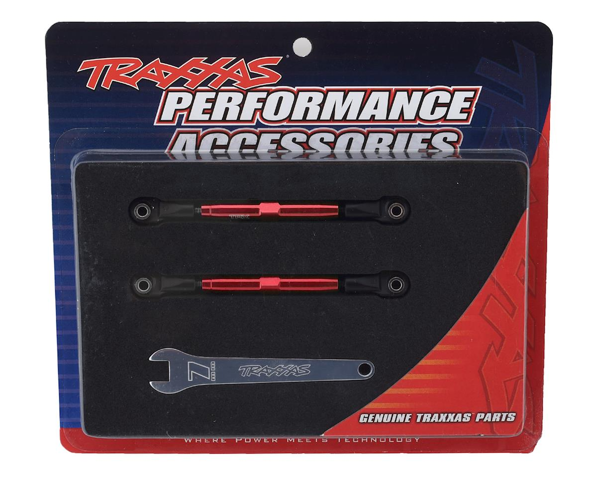 Traxxas Aluminum 49mm Camber Link Turnbuckle (Red) (2)
