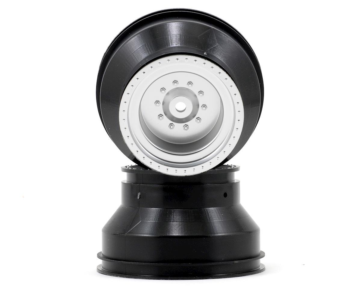 Monster Jam Replica Rear Wheel Set (2) (Silver) by Traxxas