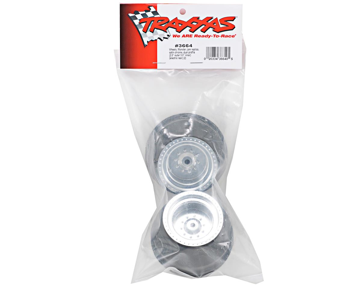 Traxxas Monster Jam Replica Rear Wheel Set (2) (Silver)