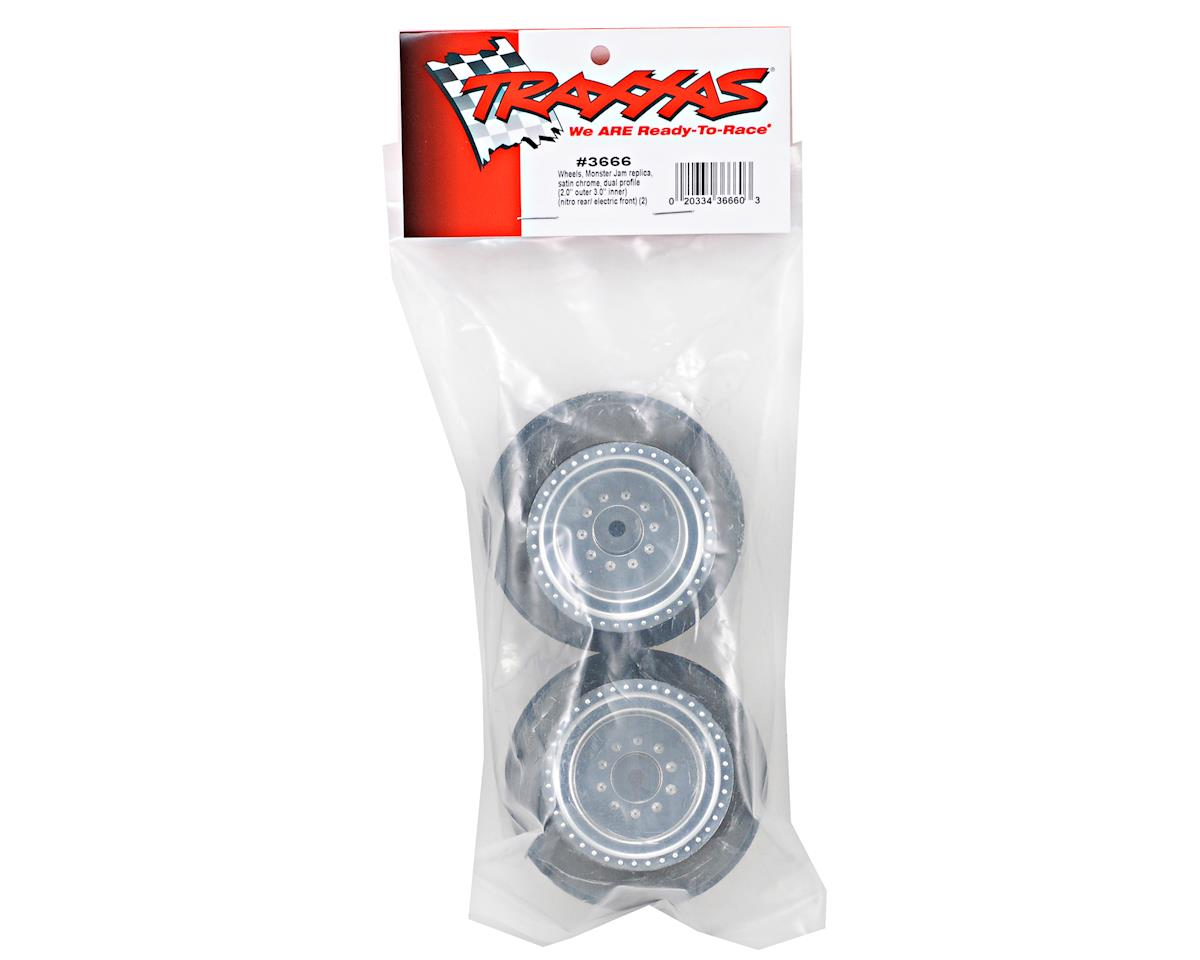 Traxxas Monster Jam Replica Front Wheel Set (2) (Silver)