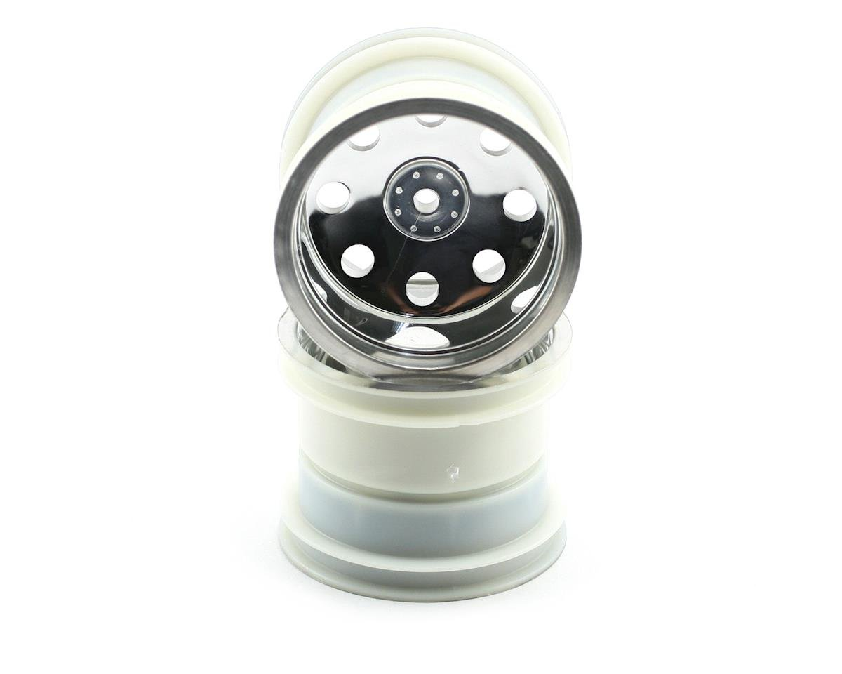 "12mm Hex 2.2"" Front Stadium Truck Wheel (2) (Satin Chrome) by Traxxas"