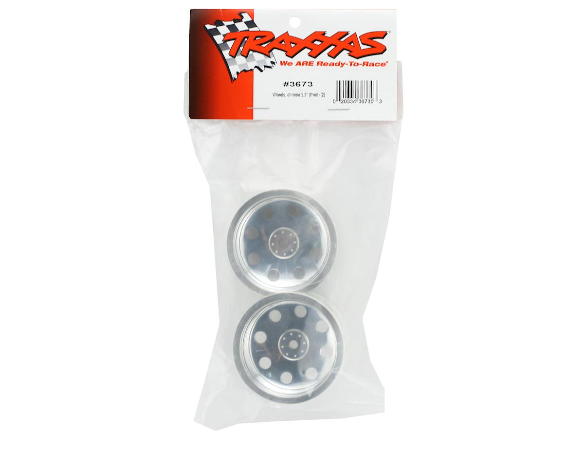 "Traxxas 12mm Hex 2.2"" Front Stadium Truck Wheel (2) (Satin Chrome)"