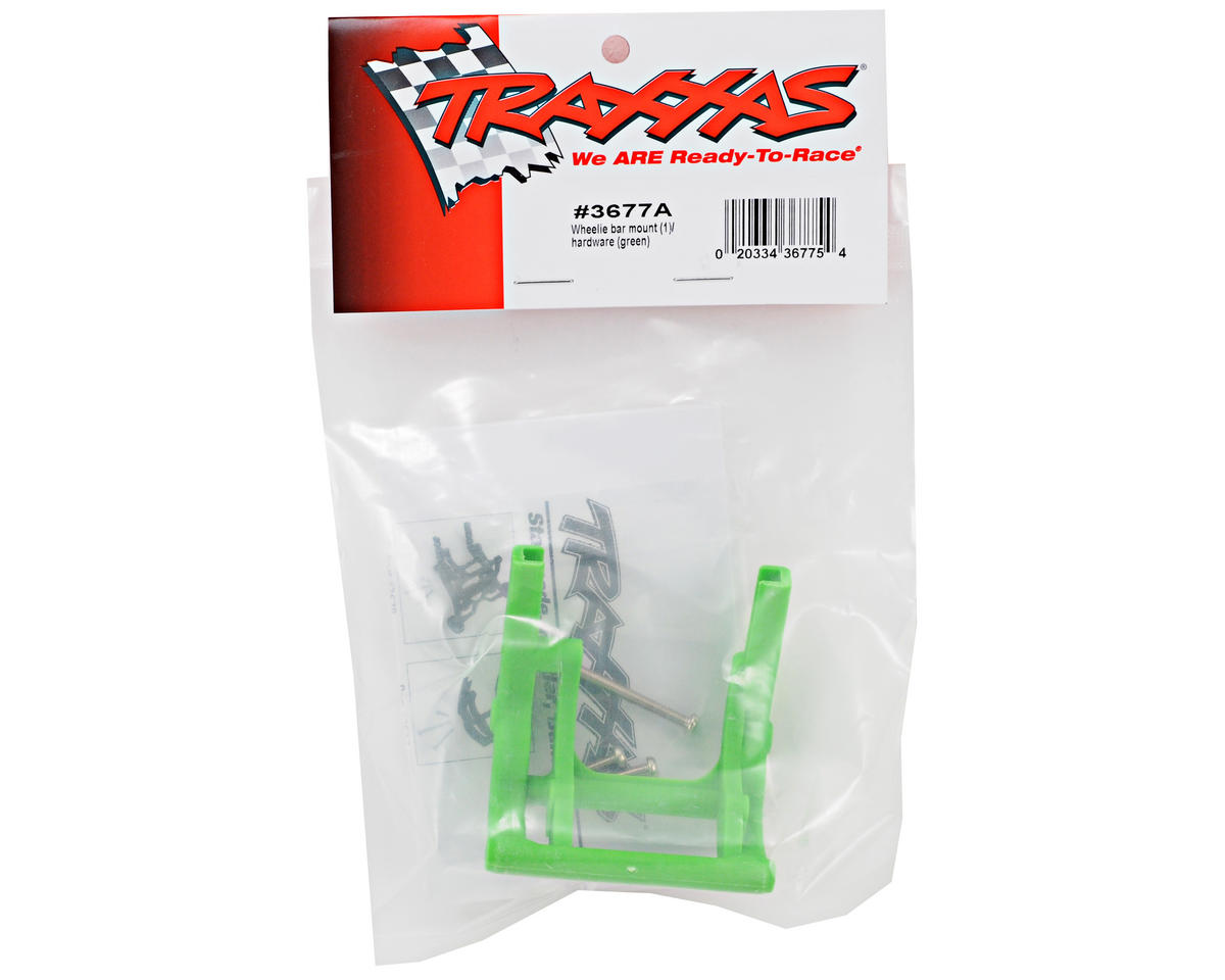 Traxxas Wheelie Bar Mount (Green) (Grave Digger)