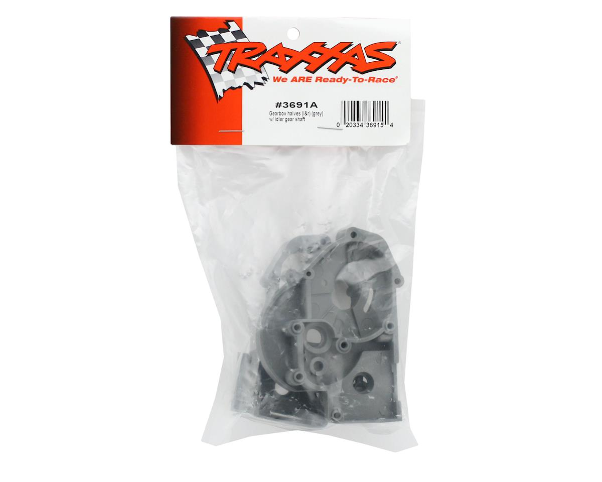 Traxxas Gearbox Halves w/Idler Shaft (Gray)