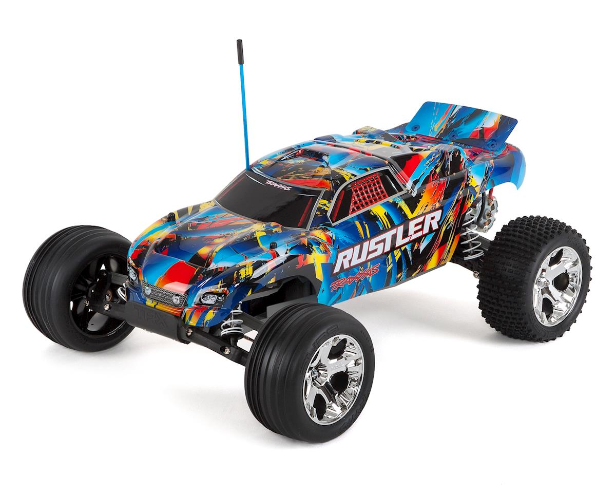 Traxxas Rustler 1/10 RTR 2WD Electric Stadium Truck (Rock n Roll)
