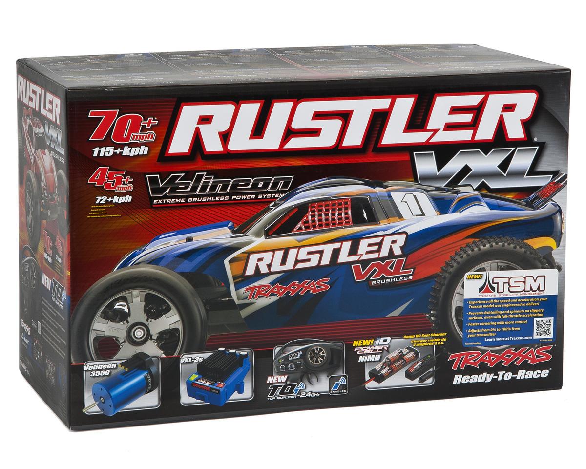 Traxxas Rustler VXL Brushless 1/10 RTR Stadium Truck (Black)