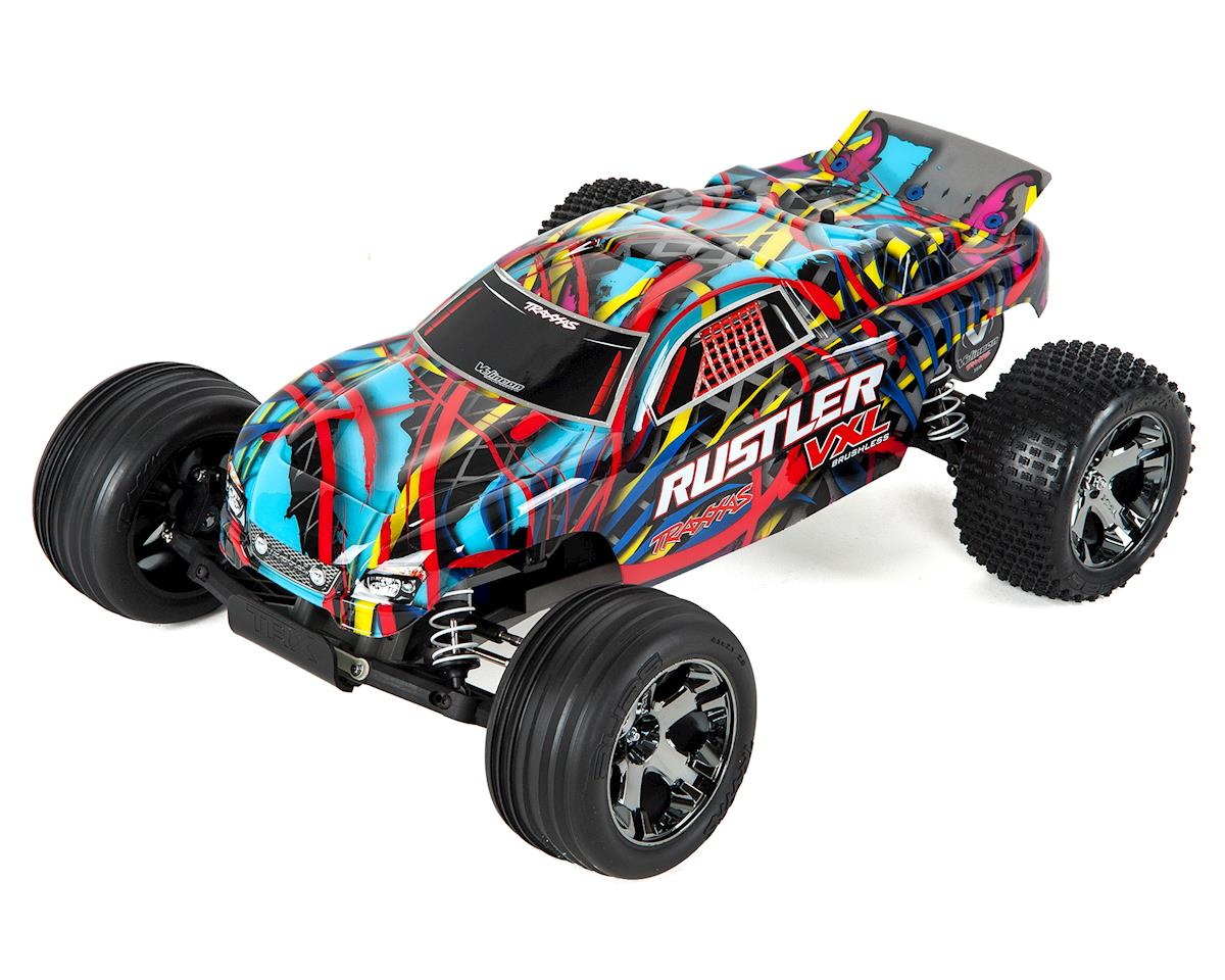 Traxxas Rustler VXL Brushless 1/10 RTR Stadium Truck (Hawaiian Edition)