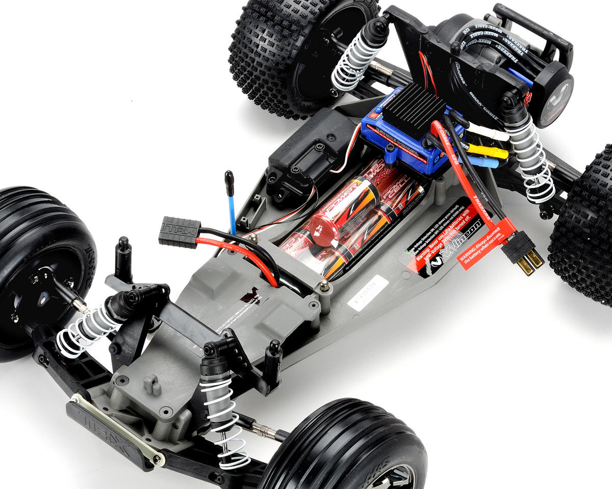 Traxxas Rustler Vxl Brushless 1 10 Rtr Stadium Truck Silver Nitro Parts Diagram Tra37076 3 Slvr Cars Trucks Amain Hobbies