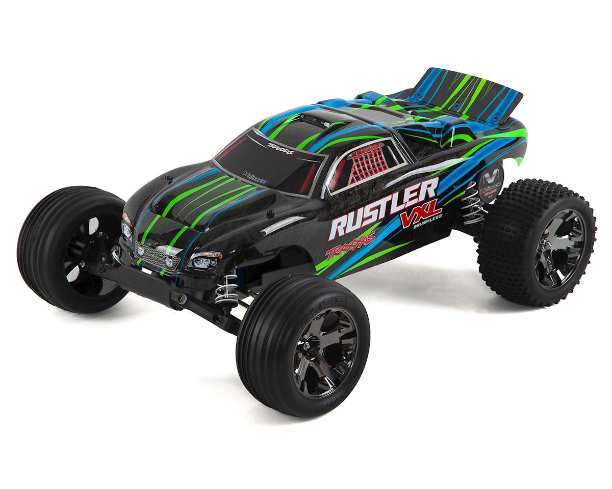 Rustler VXL Brushless 1/10 RTR Stadium Truck (Green) by Traxxas