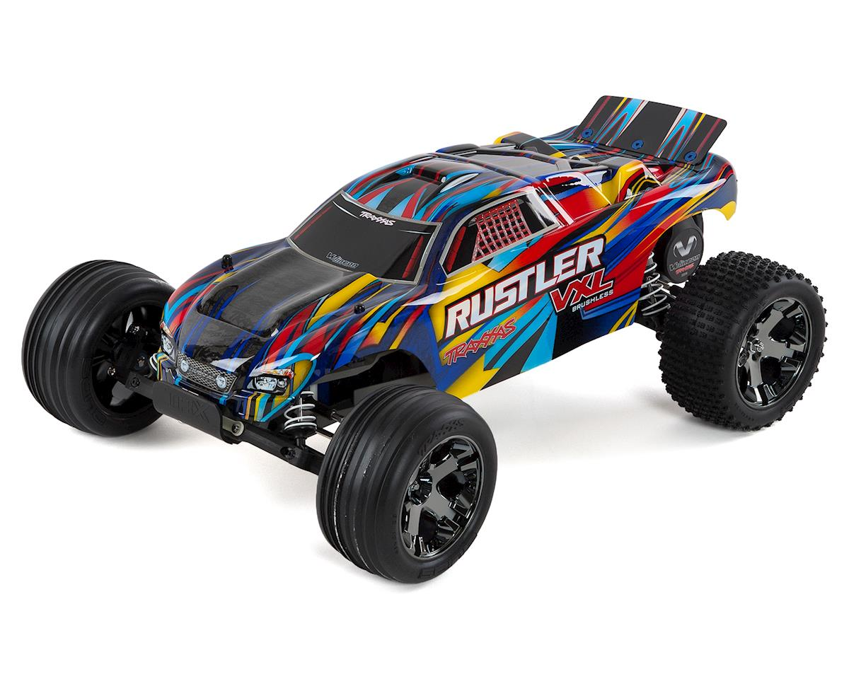 Rustler VXL Brushless 1/10 RTR Stadium Truck (Rock n Roll) by Traxxas