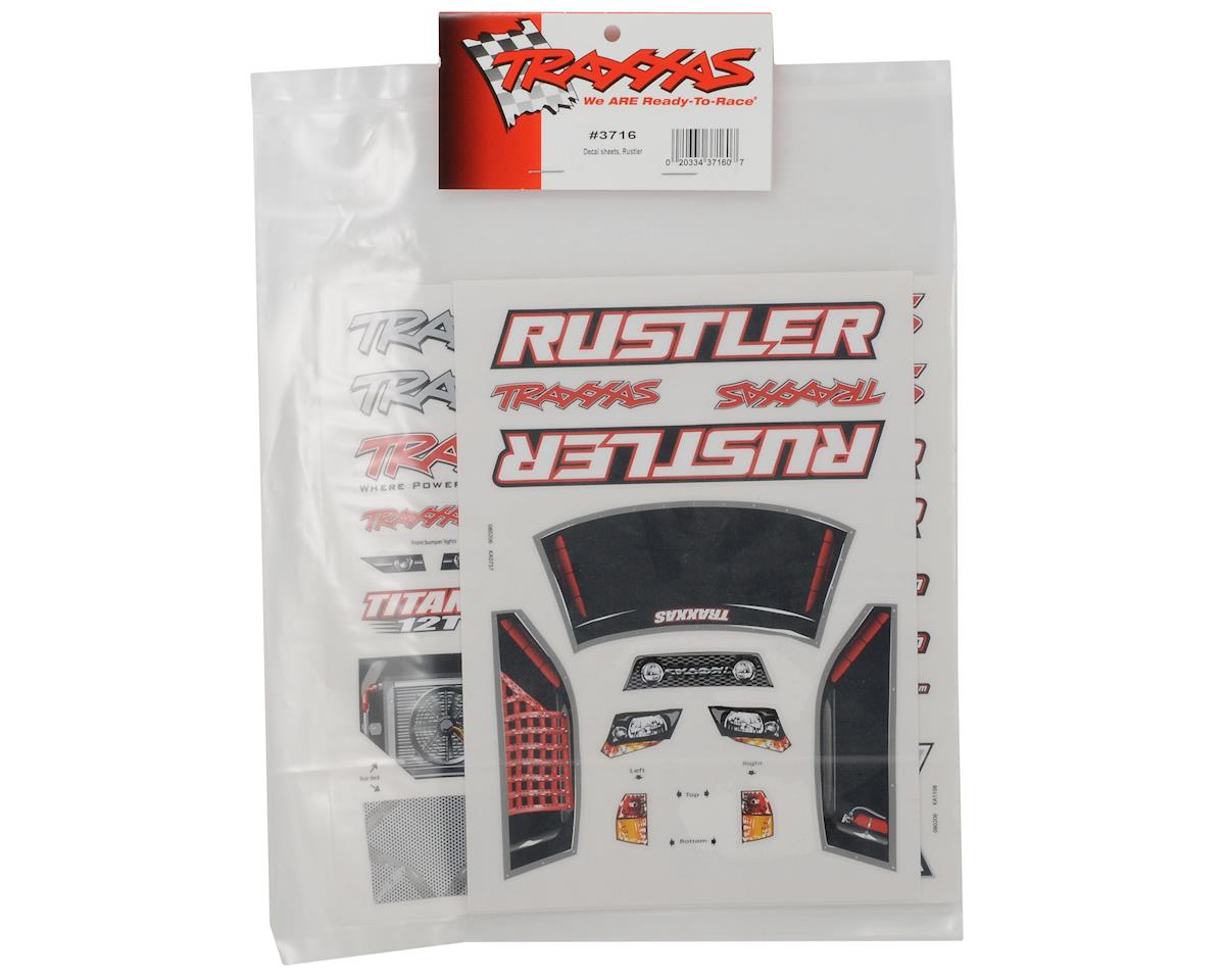 Traxxas Rustler Decal Sheet Set