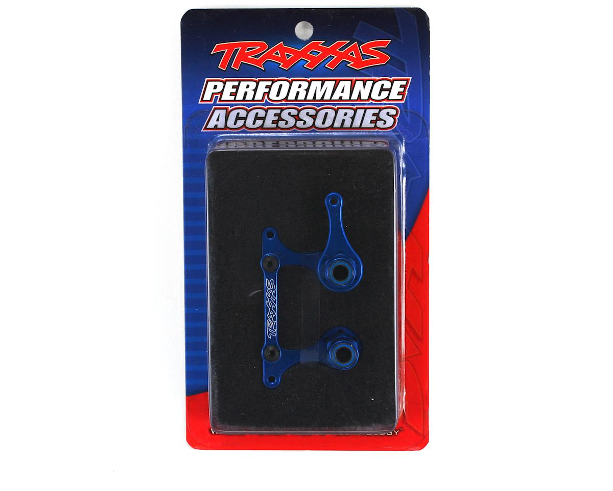 T6 Aluminum Steering Bellcrank, Drag Link & 5x8mm Ball Bearings (Blue) by Traxxas