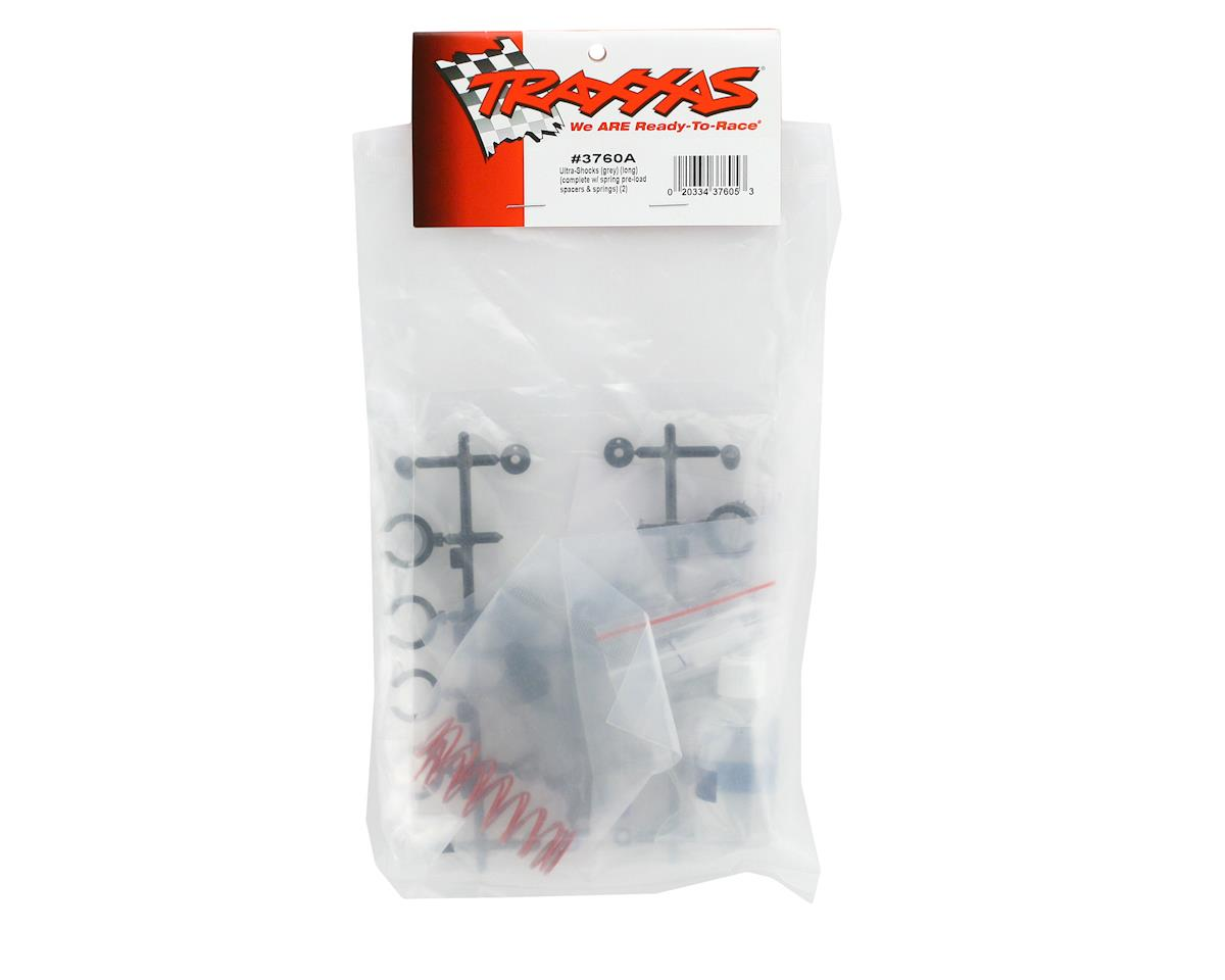 Ultra Shocks (Long) (Gray) (2) by Traxxas