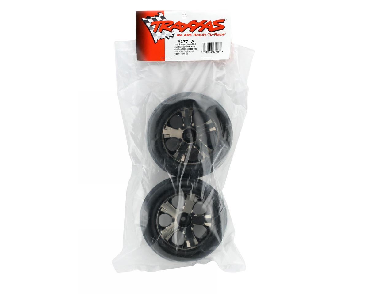 Alias Front Tires w/All-Star Wheels (2) (Black Chrome) (Standard) by Traxxas