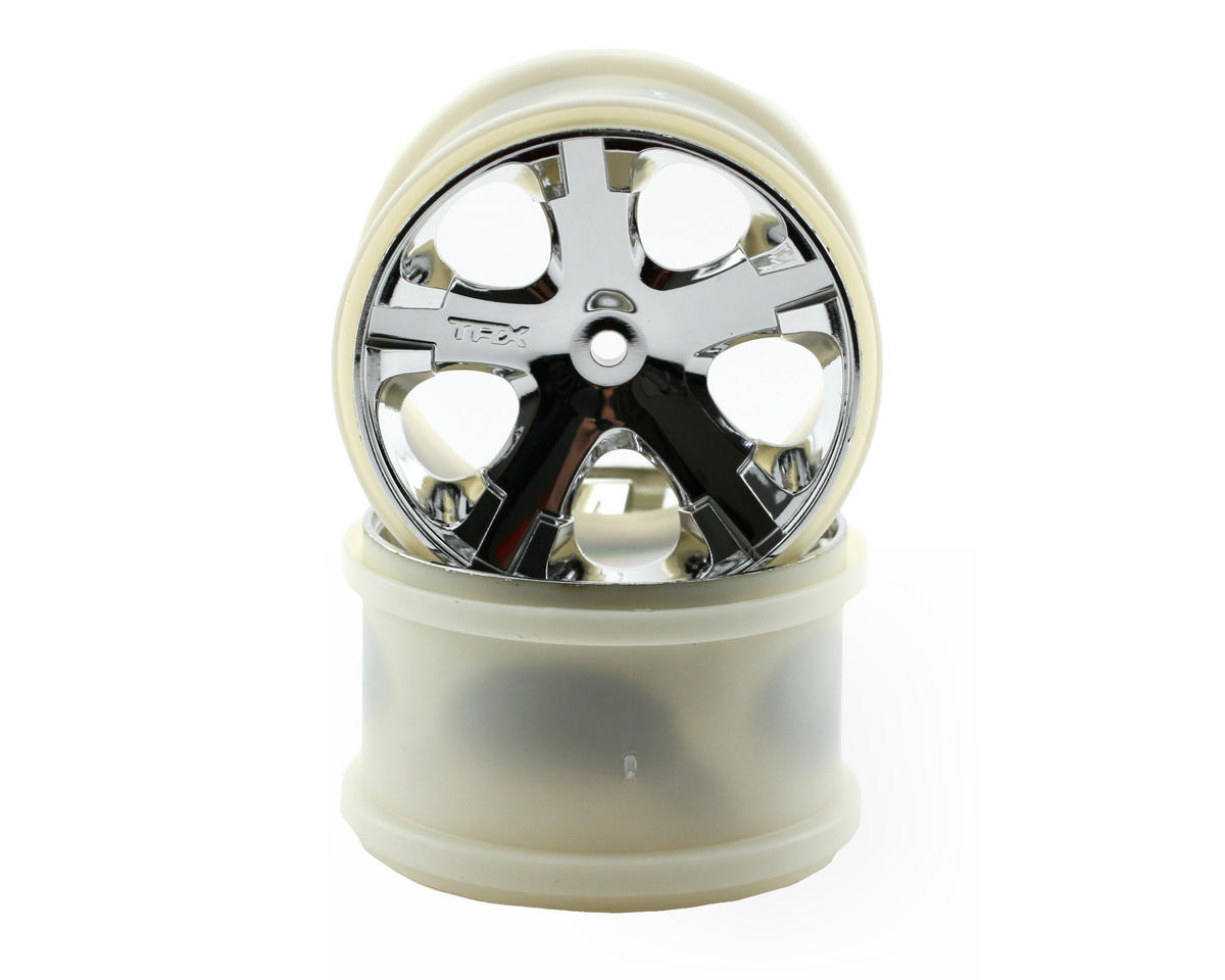 "Traxxas 12mm Hex All-Star 2.8"" Rear Wheels (2) (Chrome)"