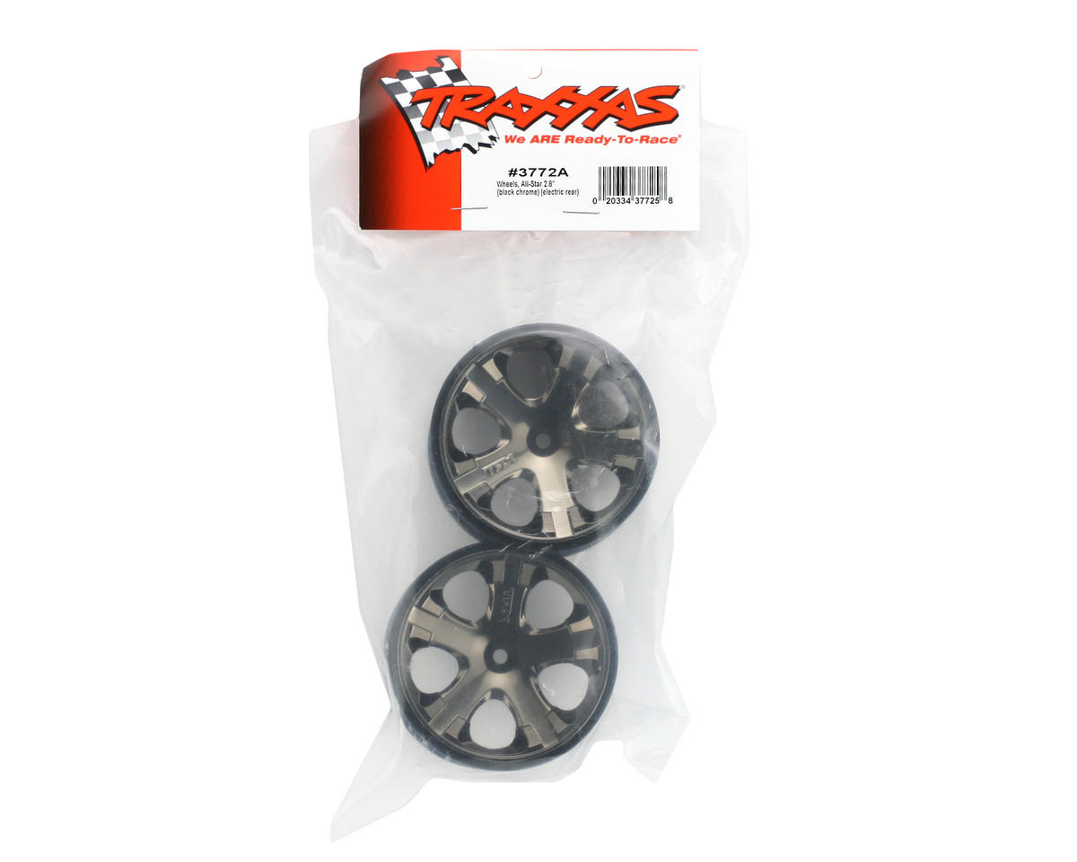 "Traxxas 12mm Hex All-Star 2.8"" Rear Wheels (2) (Black Chrome)"