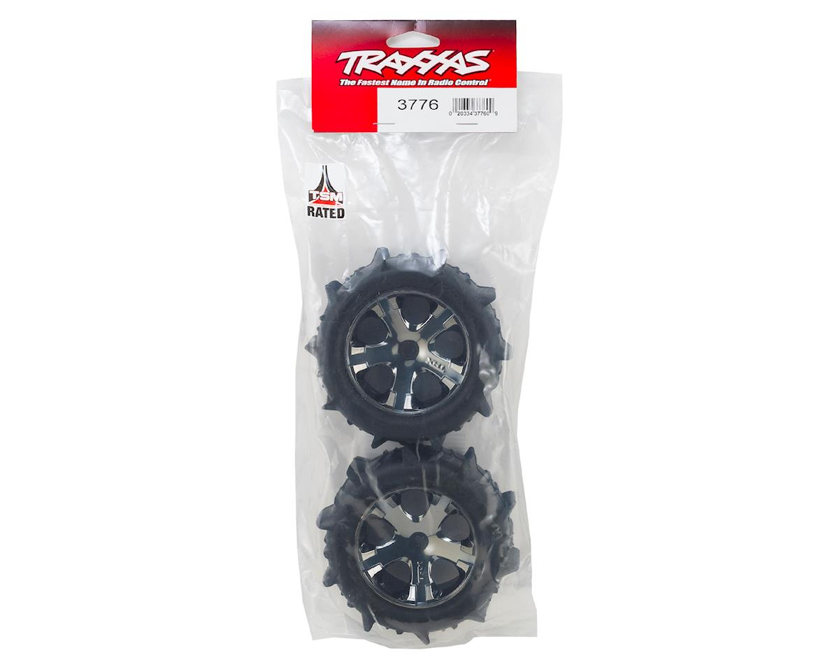 "Traxxas 2.8"" Pre-Mounted Paddle Tires w/All-Star Nitro Rear Wheels (2)"