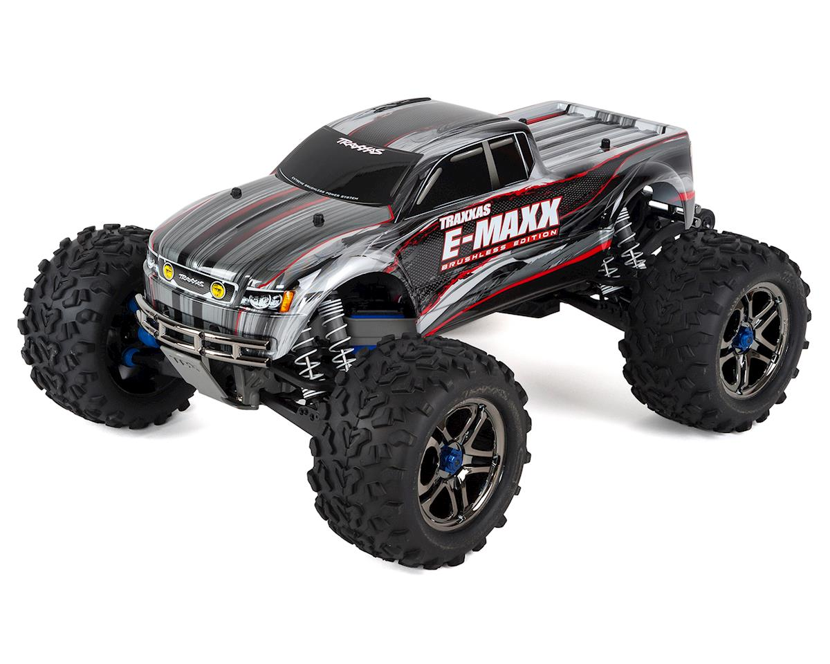E-Maxx RTR Brushless 4WD Monster Truck (Silver) by Traxxas