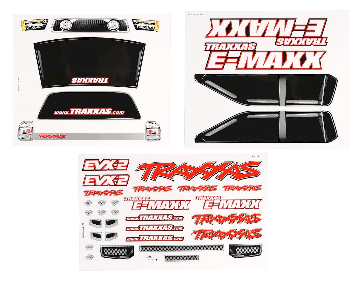 Decal Sheets E-Maxx by Traxxas