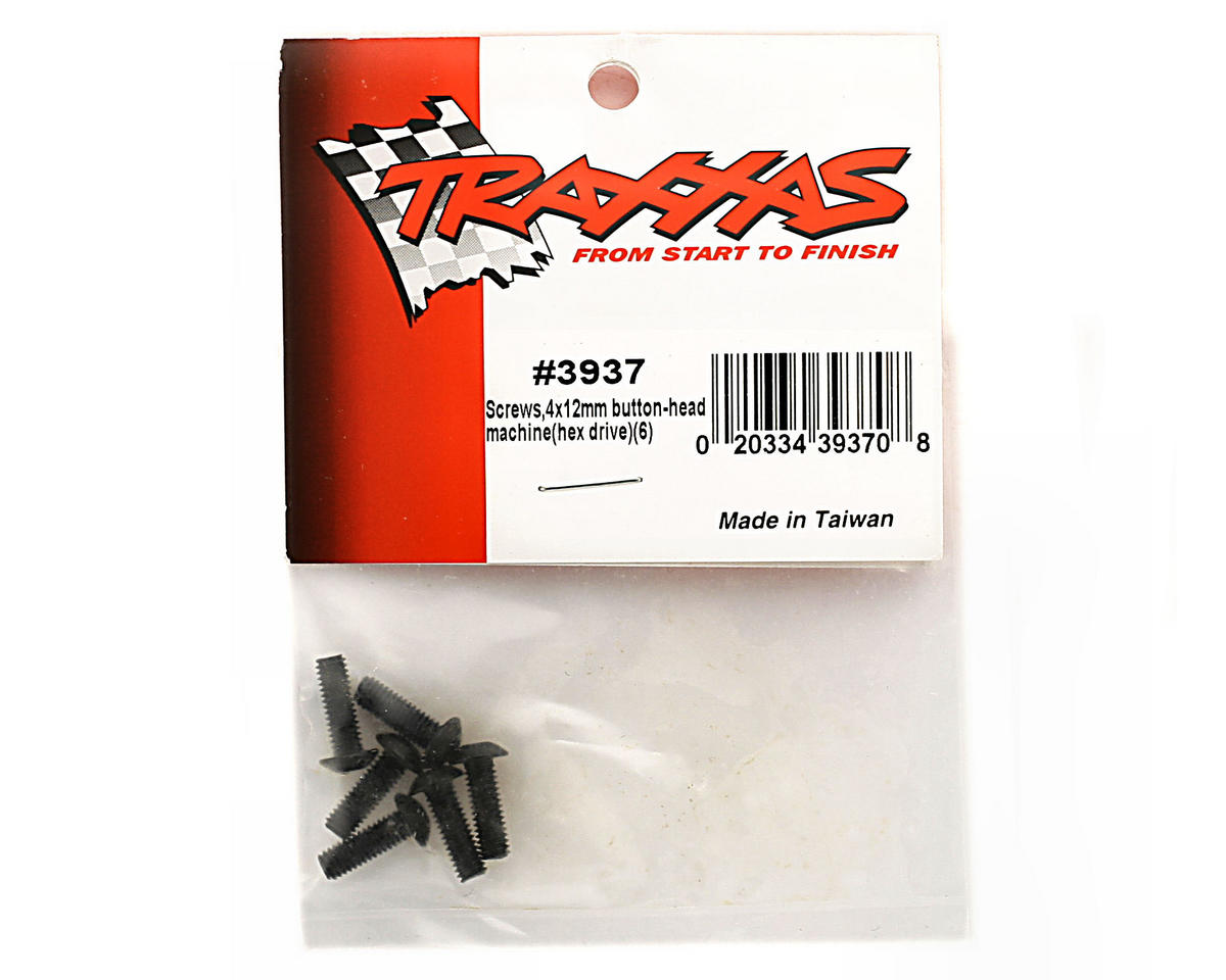 Traxxas 4x12mm Button Head Hex Screw (6)
