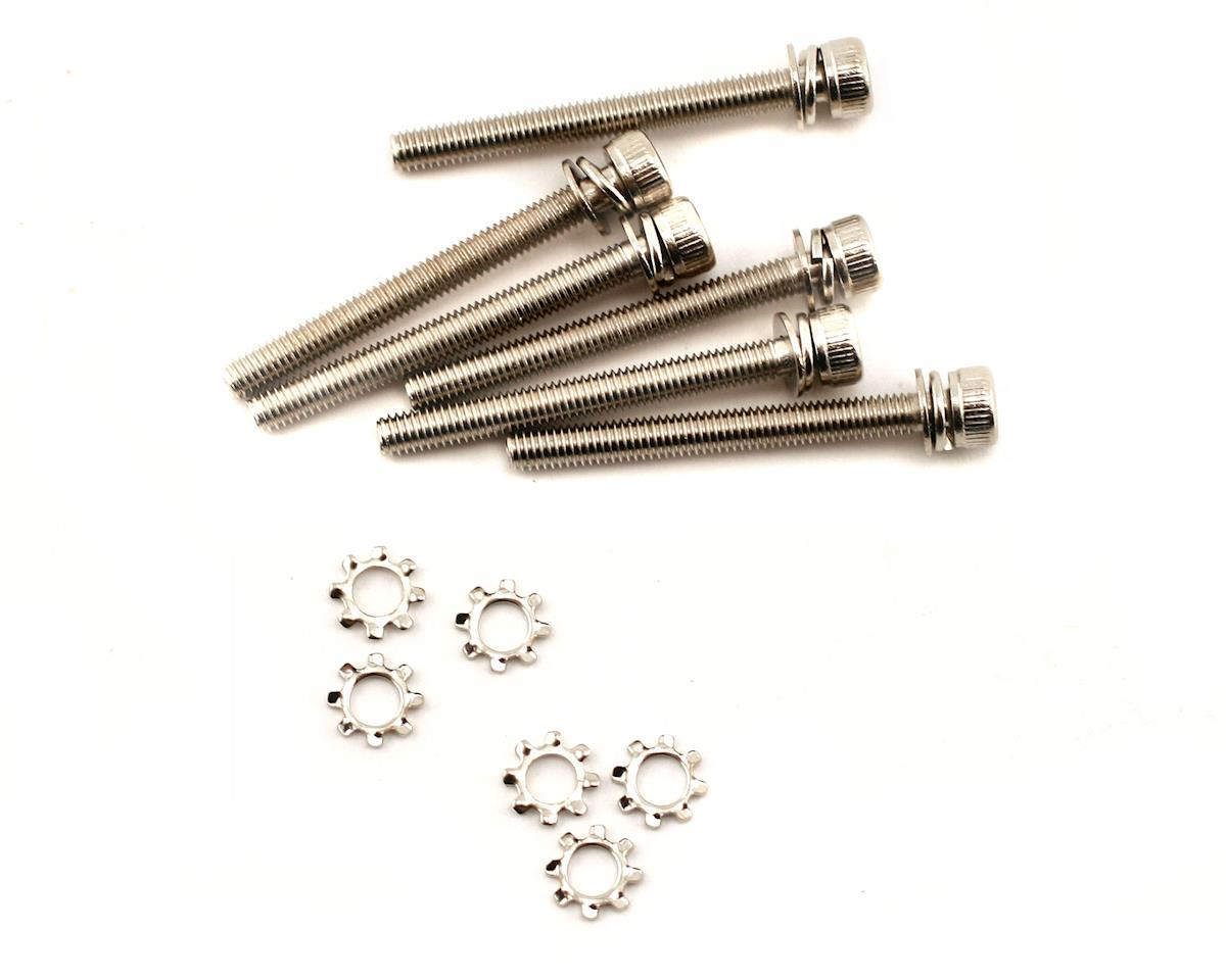 Screws, 3x28mm cap-head machine (hex drive) (6)/ 3x6mm ELW (6) by Traxxas