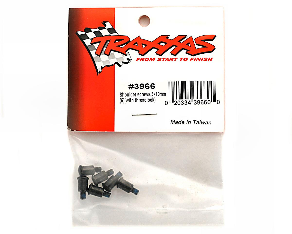 Traxxas Shoulder screws, 3x10mm (6) (with threadlock)