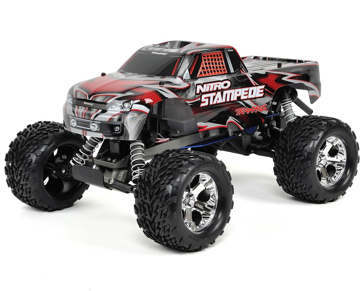 Traxxas Nitro Stampede RTR Monster Truck w/Easy Start Batteries & Charger