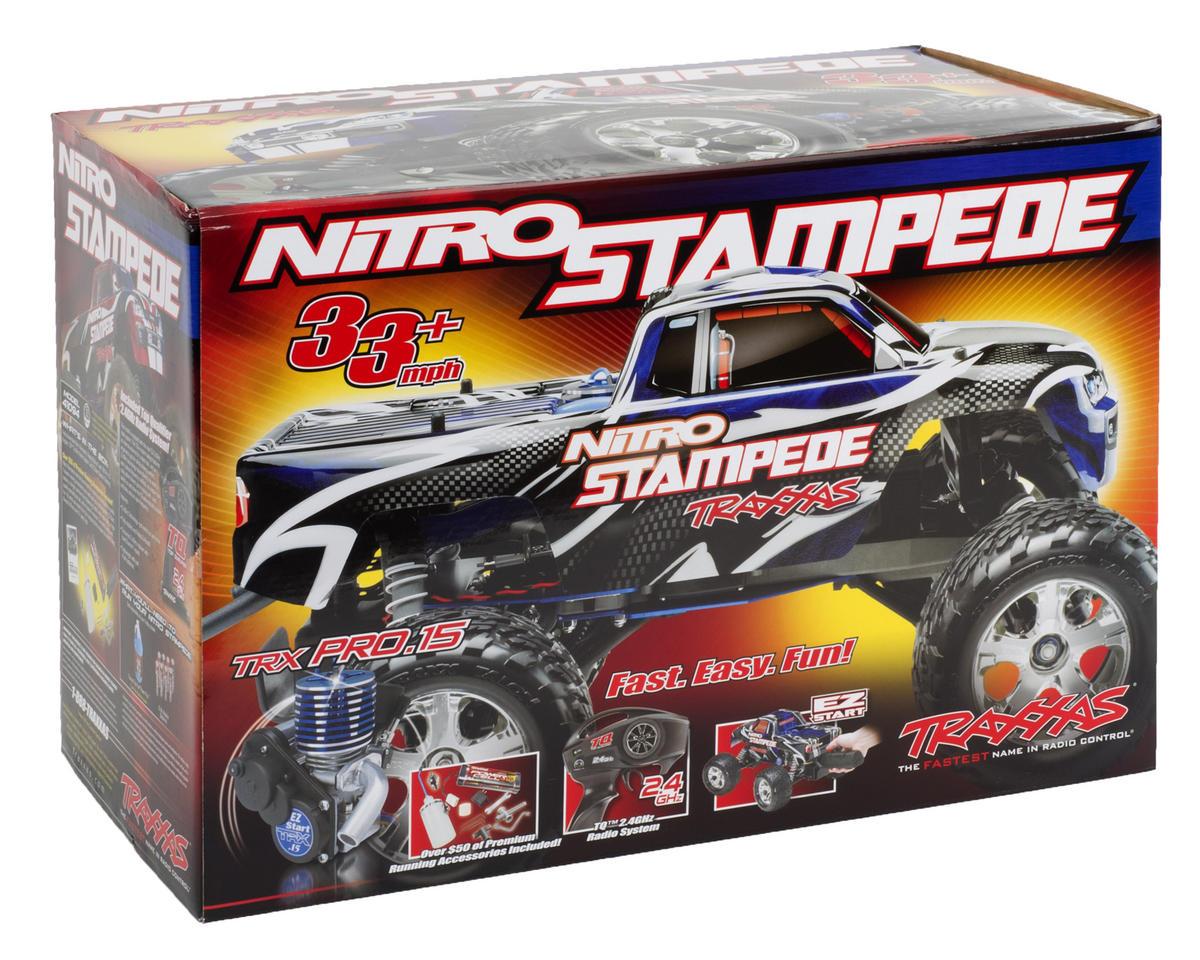 Traxxas Nitro Stampede RTR Monster Truck w/TQ 2.4GHz Radio, Easy Start Batteries