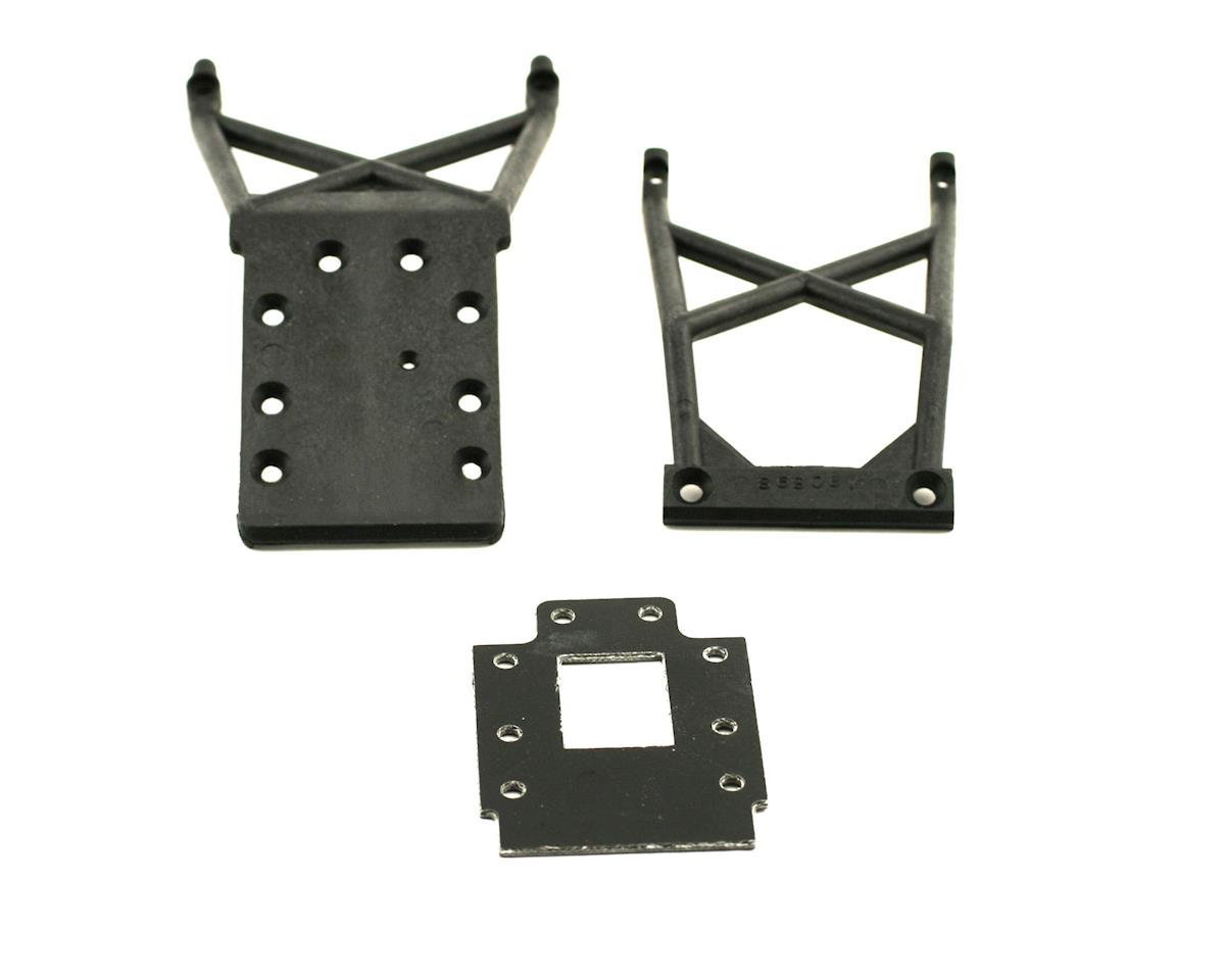 Front & Rear Skid Plates With Transmission Spacer by Traxxas