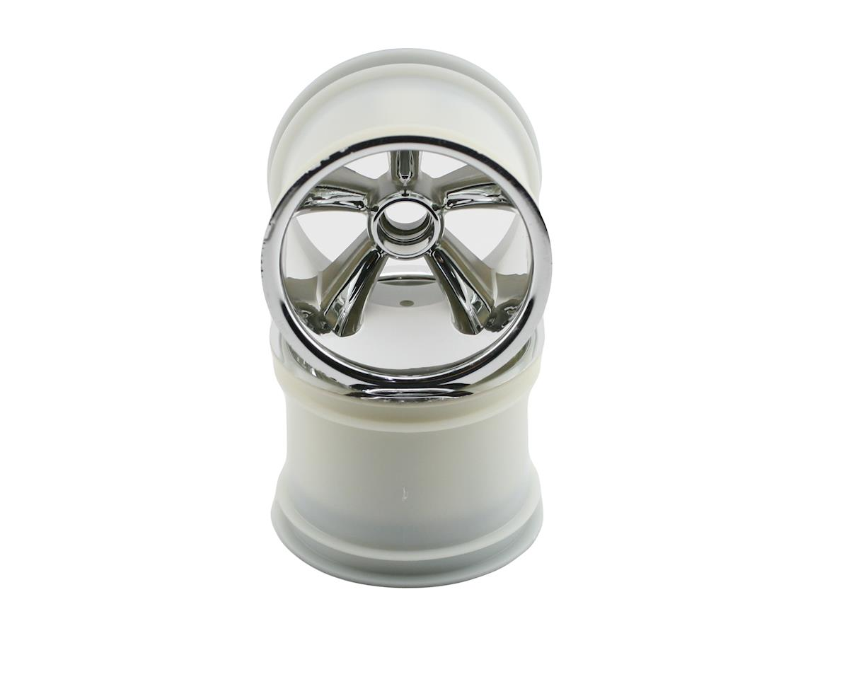 Pro-Star Front Wheels (2) (Chrome) (Pins) by Traxxas