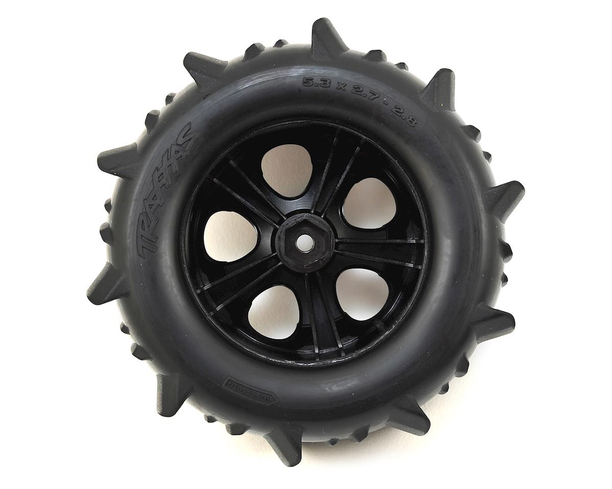 "Traxxas Paddle Tires 2.8"" Pre-Mounted w/All-Star Nitro Front Wheels (2)"