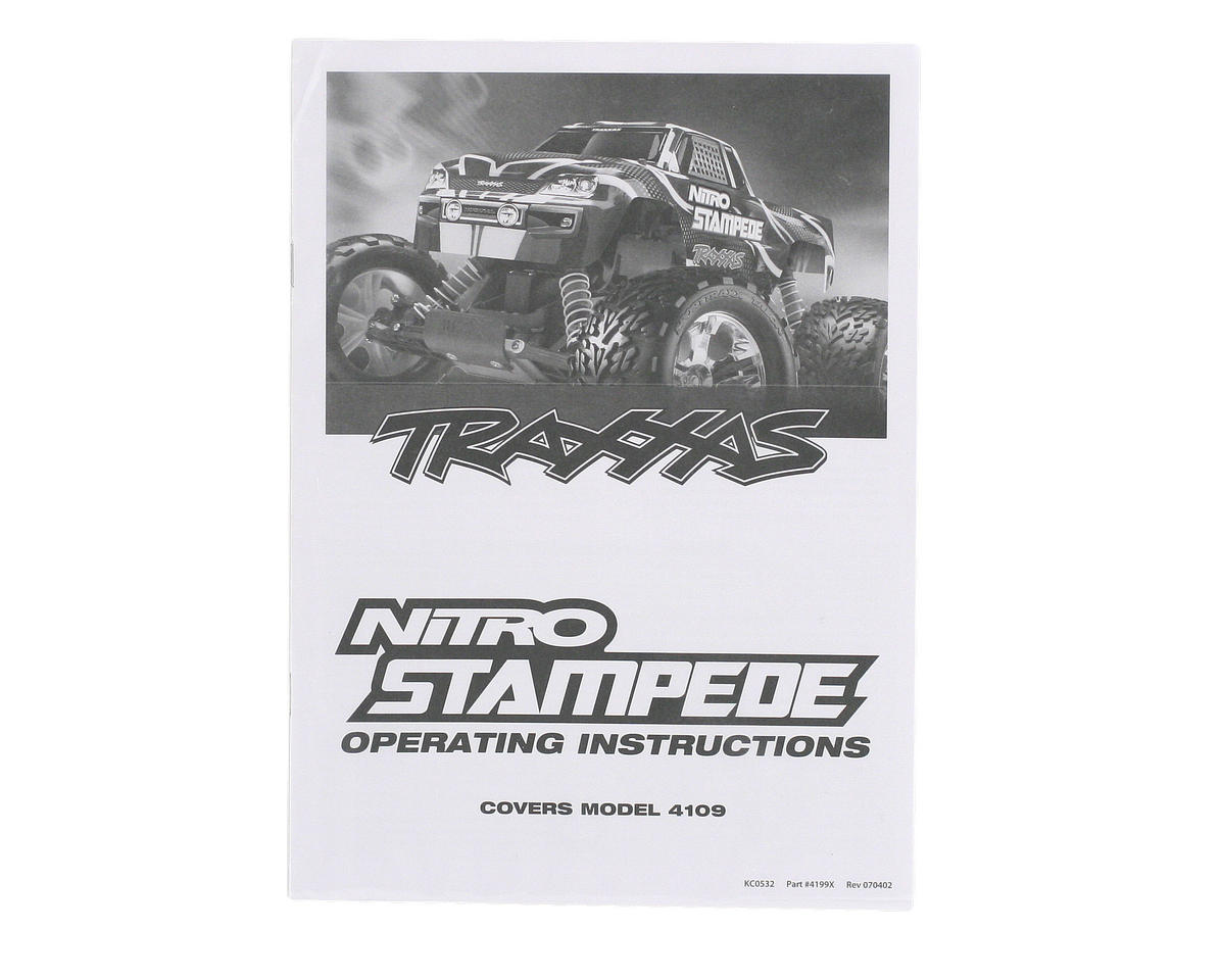 Traxxas Owners Manual Nitro Stampede Tra4199x Cars Trucks