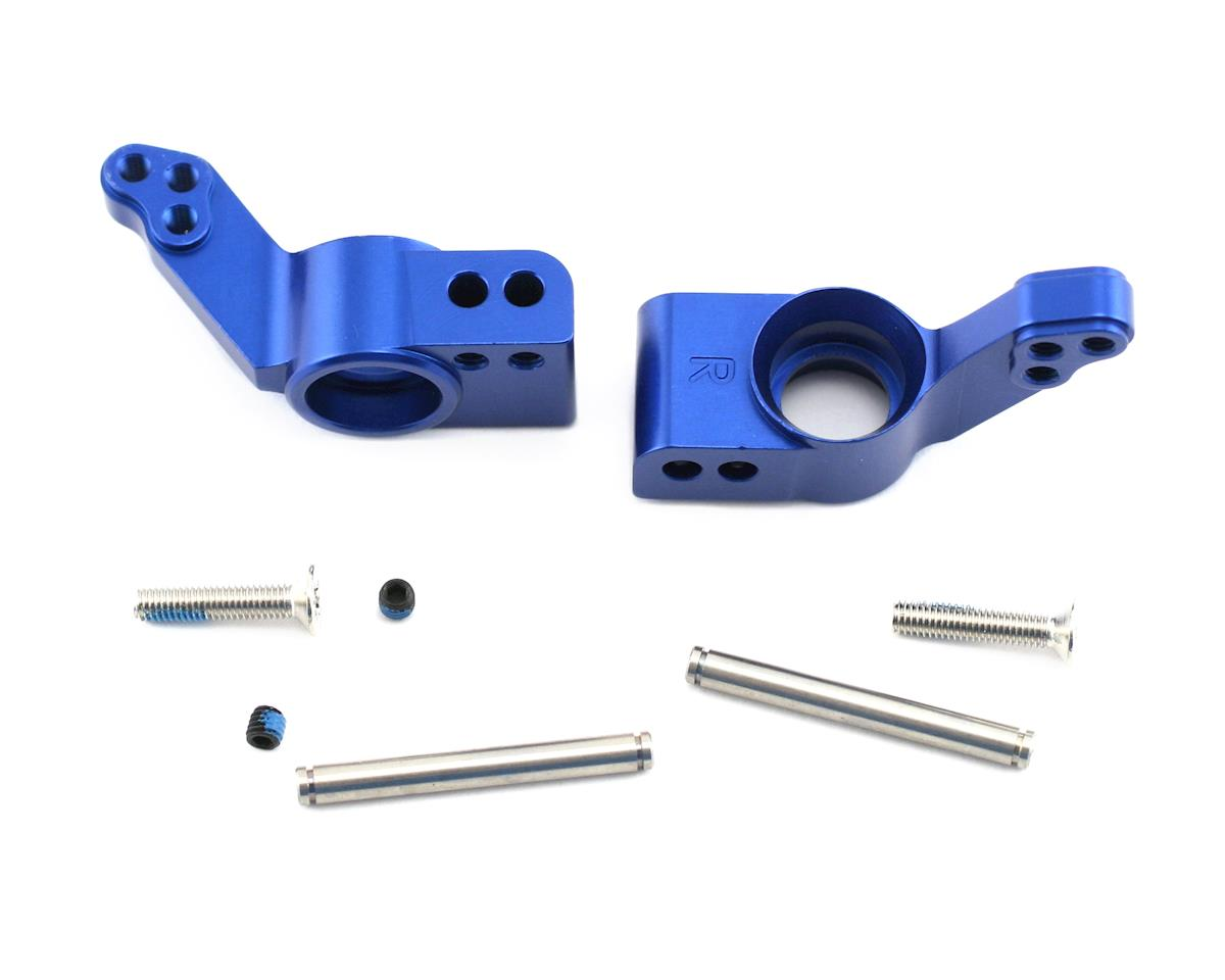 Traxxas 4-Tec Aluminum Rear Stub Axle Carrier (1.5 Degree Toe) (Blue)
