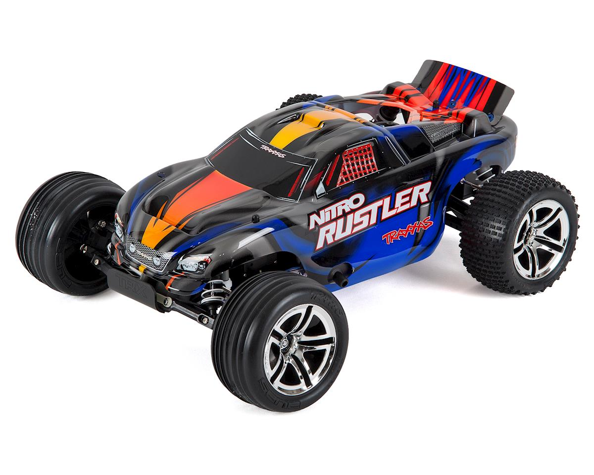 Traxxas Nitro Rustler 1/10 RTR Stadium Truck (Silver/Blue)