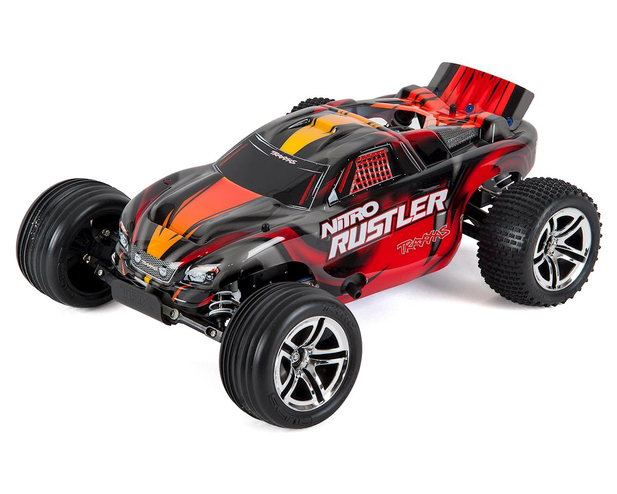 Nitro Rustler 1/10 RTR Stadium Truck (Silver/Red) by Traxxas