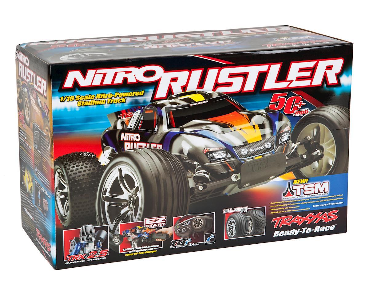 Traxxas Nitro Rustler 1/10 RTR Stadium Truck (Silver/Red)
