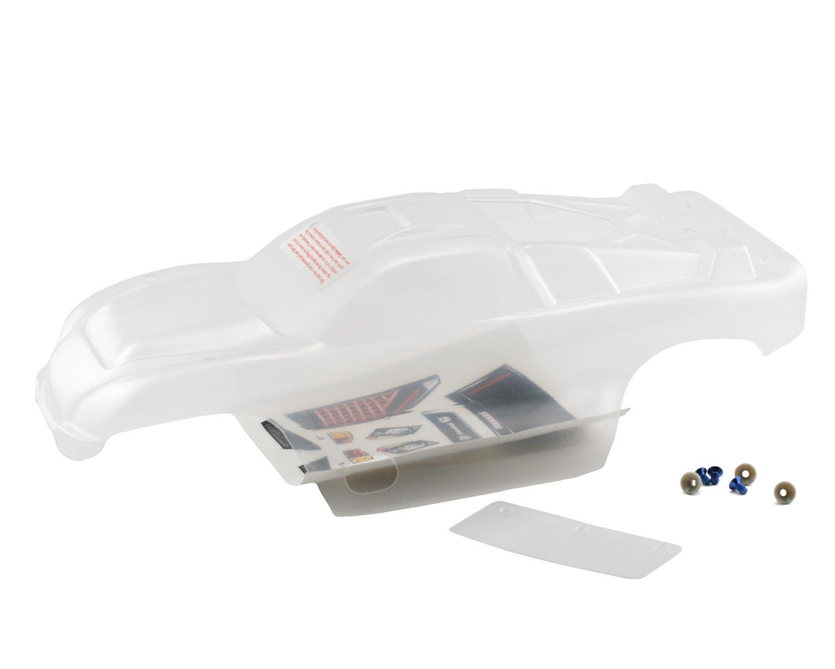 Traxxas 4412 Clear Nitro Rustler Body With Wing Hardware And Decal Parts Diagram Sheet Tra4412