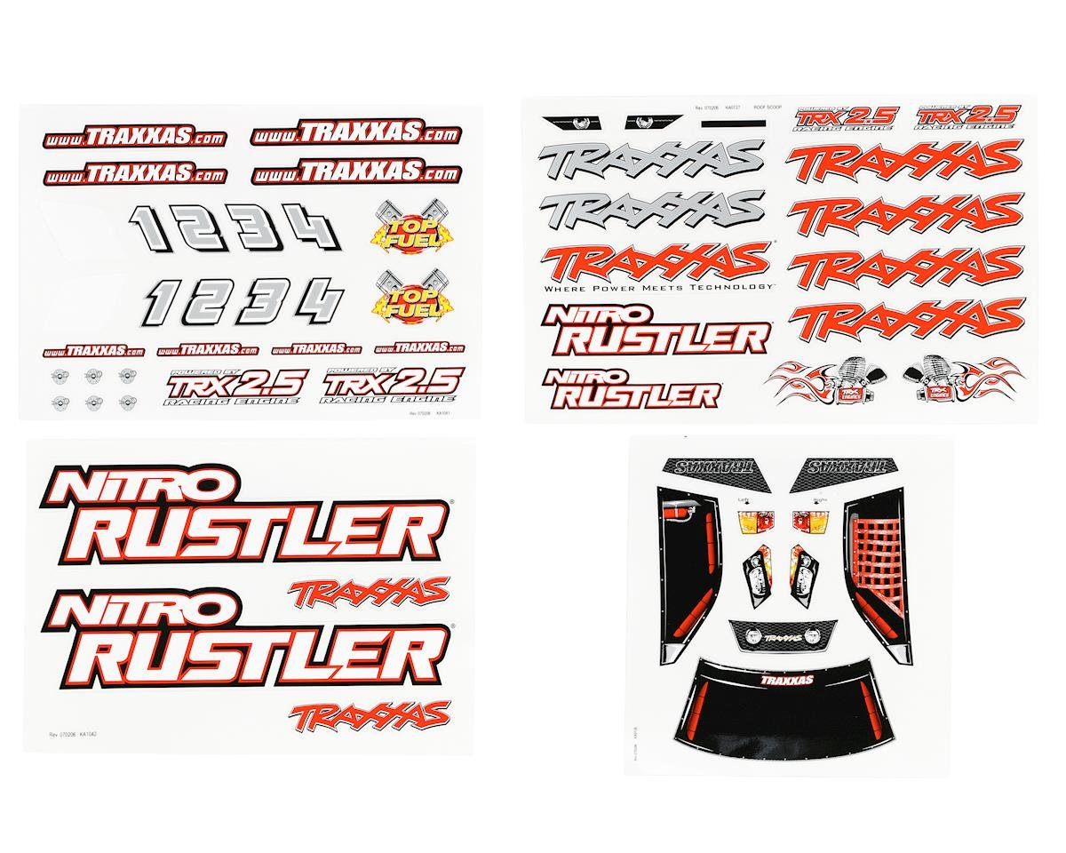 Traxxas Nitro Rustler Decal Sheet