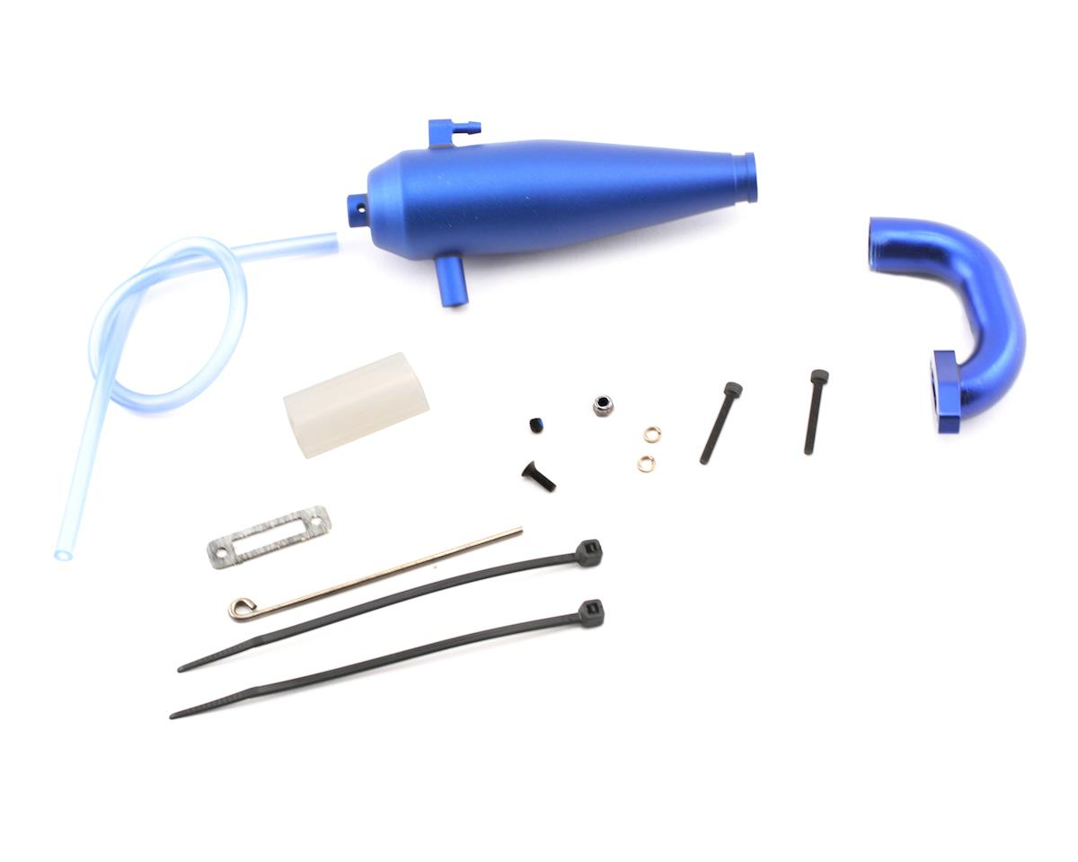 Aluminum Tuned Exhaust System (Blue) by Traxxas