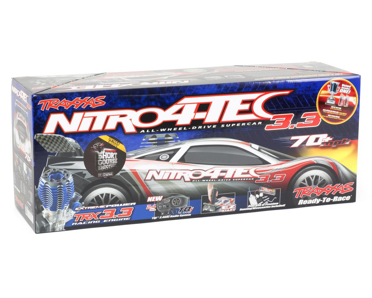 Traxxas Nitro 4-Tec 3.3 1/10 RTR Nitro Sedan w/TQi 2.4GHz Radio & Docking Base