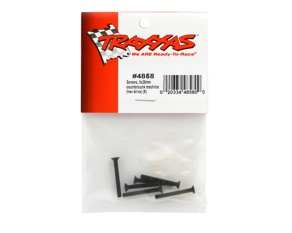 Traxxas 3x25mm Countersunk Hex Screw (6)