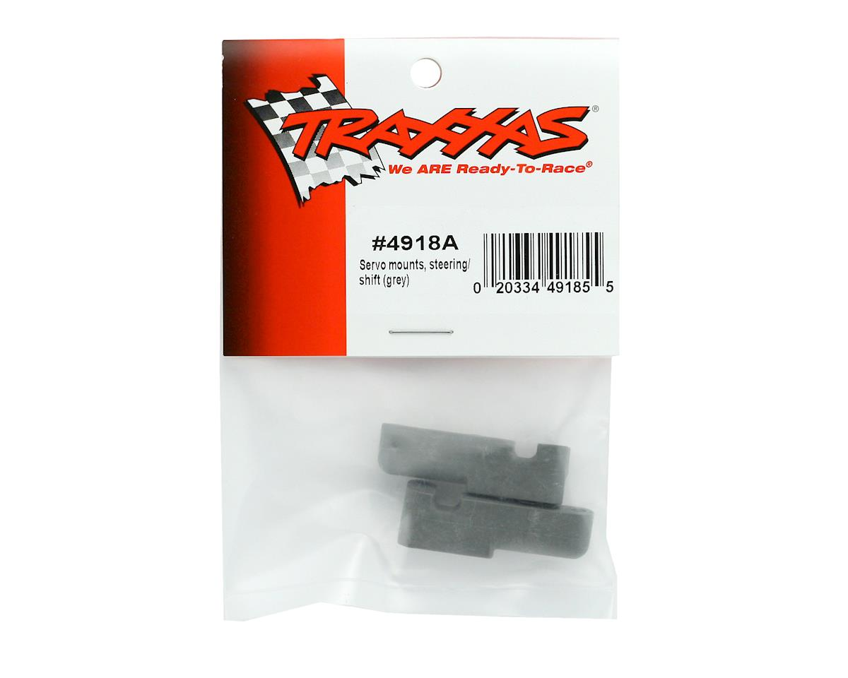 Steering Servo Mounts (Grey) (TMX3.3) by Traxxas