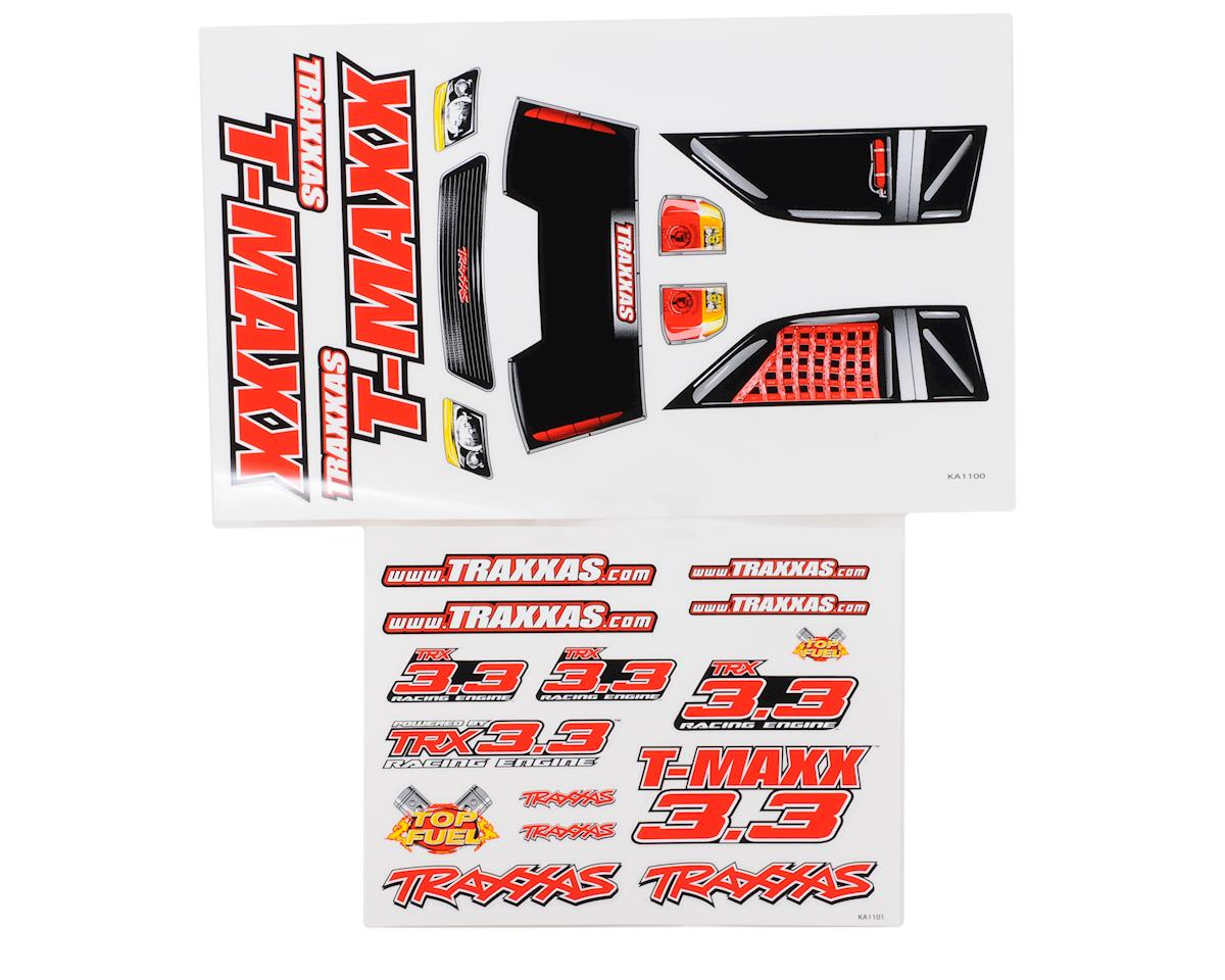 T-Maxx 3.3 Decal Sheets by Traxxas