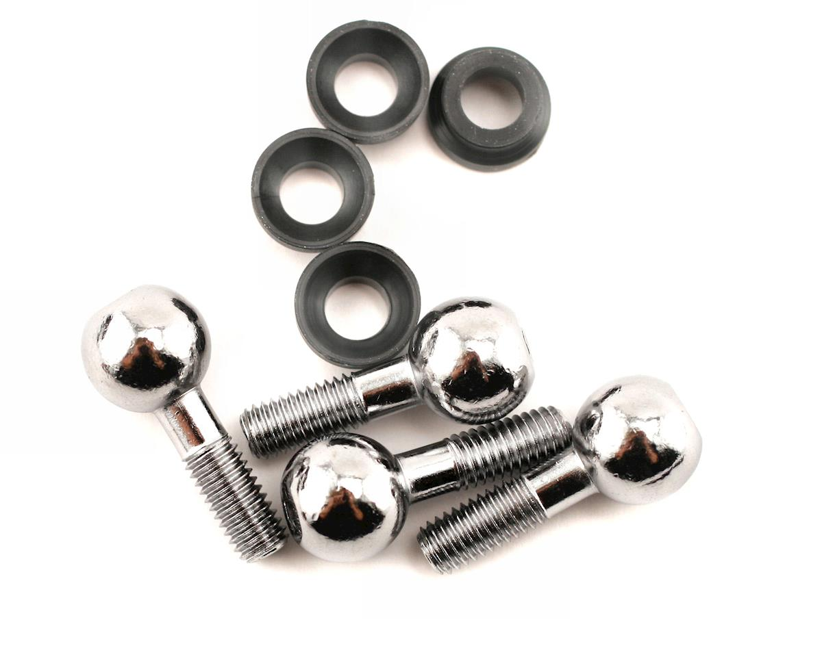 Pivot balls (4)/ pivot ball cap bushings (4) by Traxxas