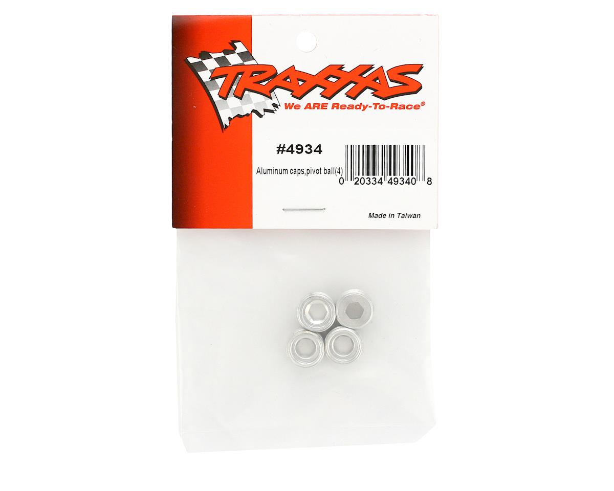 Aluminum Pivot Ball Caps (EMX,TMX.15,2.5) (4) by Traxxas