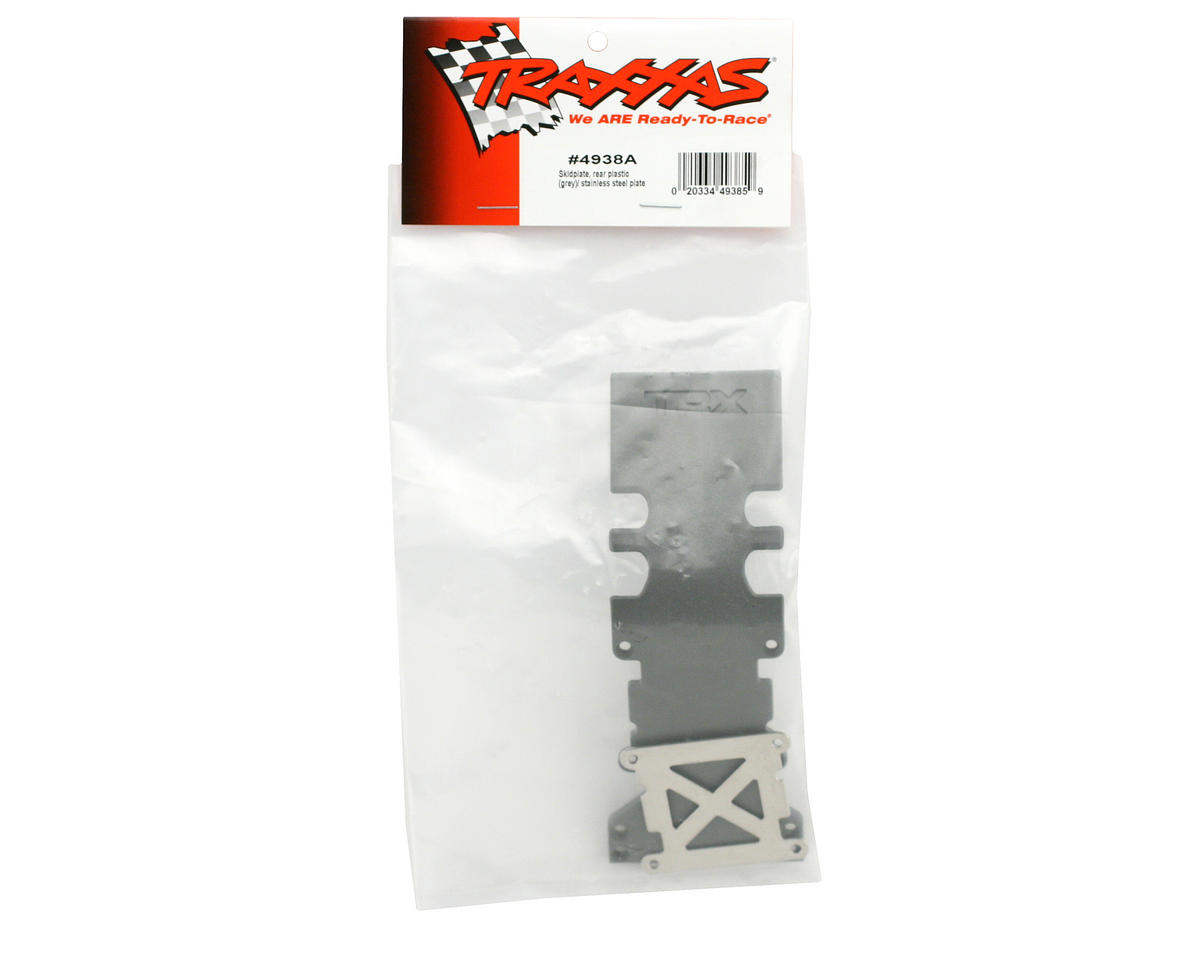Rear Skidplate (Grey) (TMX 3.3) by Traxxas