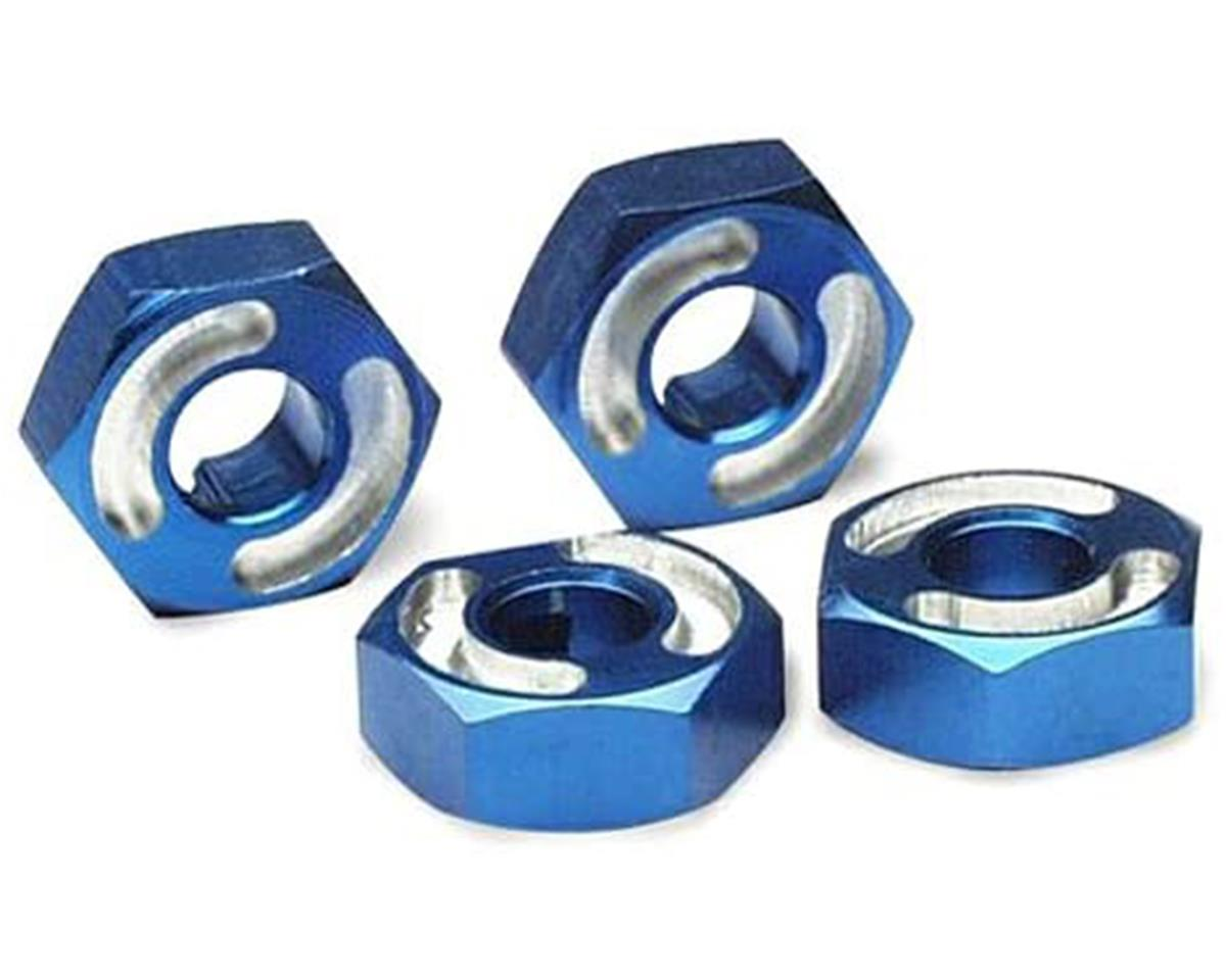 Traxxas Aluminum Hex Wheel Hubs w/2.5x12mm Axle Pins (Blue) (2)