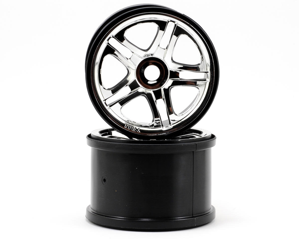 3.8 Split Spoke Wheels (2) (Revo 3.3) (Chrome) by Traxxas