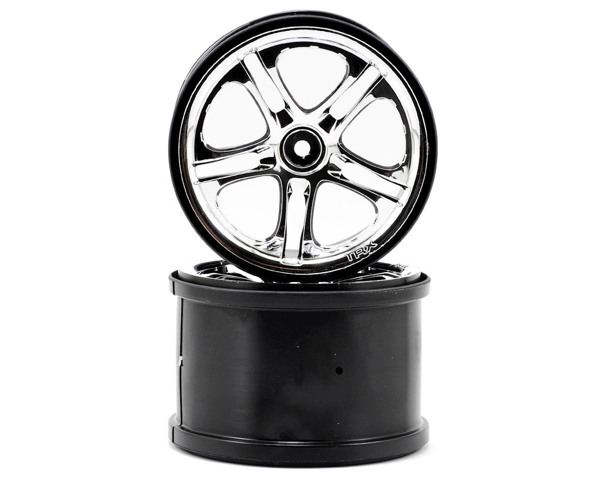 3.8 SS Split Spoke Wheels (Revo,TMX) (2) (Chrome) by Traxxas